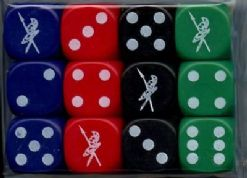 Twelve 6-sided SoA 16mm Spot Dice